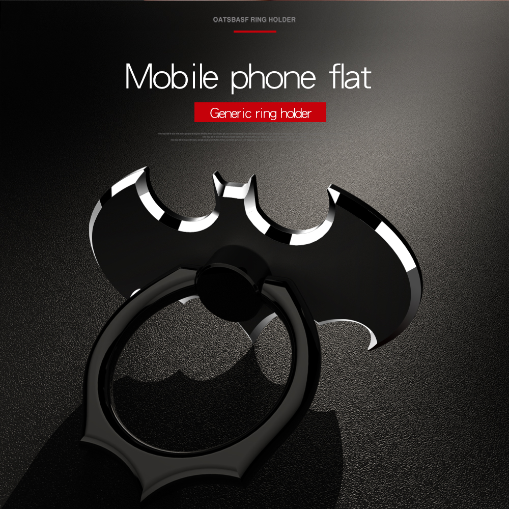 Universal Socket Phone Stand 360 Degree Batman Luxury Metal Phone Finger Ring Holder For All Smartphone