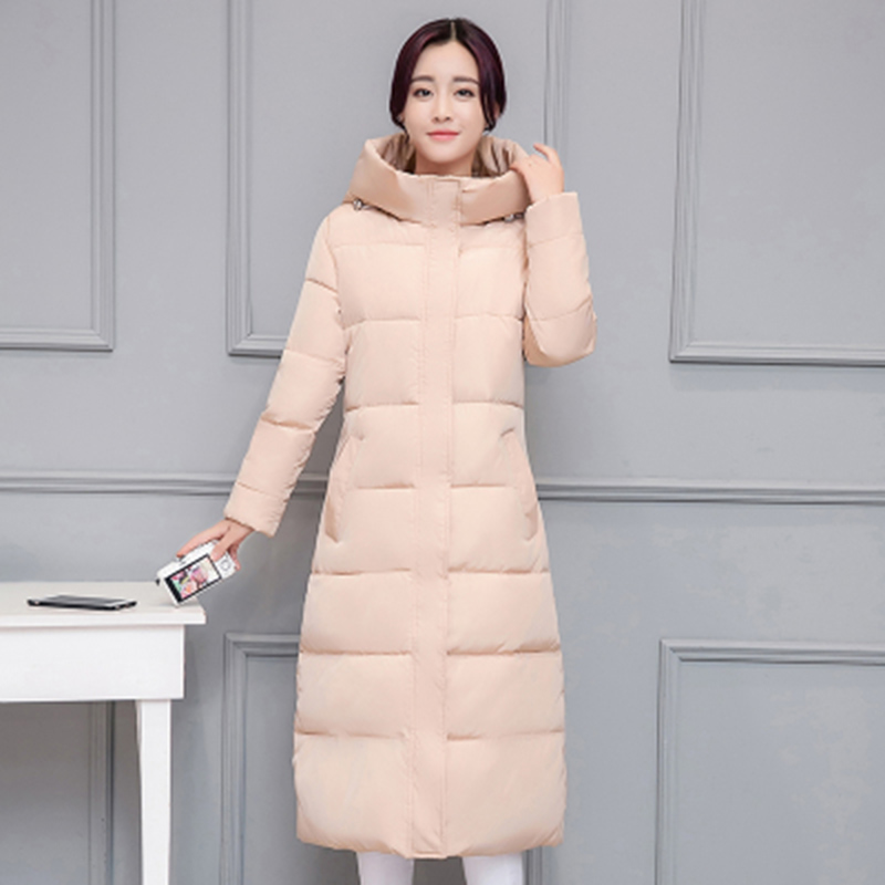 New Winter Jacket Women Long Slim Coat Female Cotton Clothing Thicken Plus Size Hooded Zipper   Parkas   Jackets Casual Outwear
