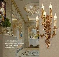 Винтаж настенный светильник классическая свеча роскошный отель свет стены вилла Спальня кронштейн настенный светильник бра Luminaria Спальня