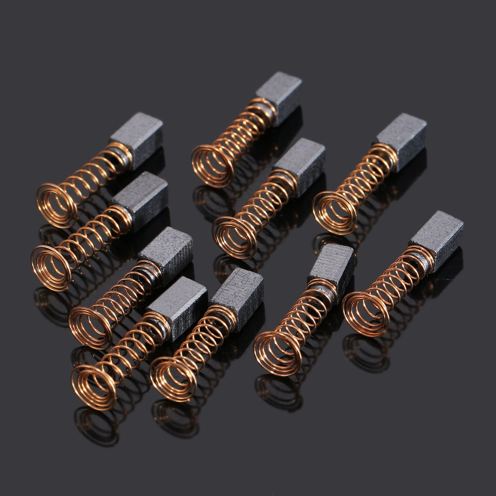 20pcs Mini Drill Carbon Brush Dremel Rotary Tool Spare Parts For Generic Electric Motor Power Tool Accessories 5x5 X8mm 10 Pairs