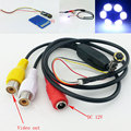 DIY Only Dia 7mm Mini CCTV Camera Module CMOS 720*480 Pixels 60 Degree 6 LED Night Vision