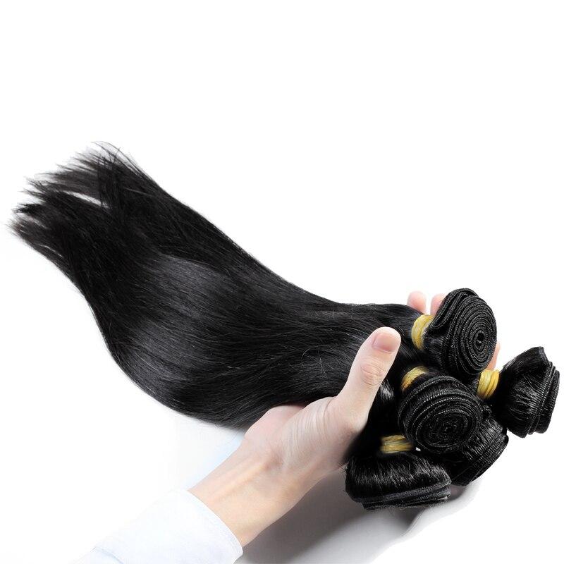 Addbeauty индийский Девы прямые 3 предмета человеческих волос Связки Расширение для черный Для женщин натуральный Цвет Необработанные можно по...