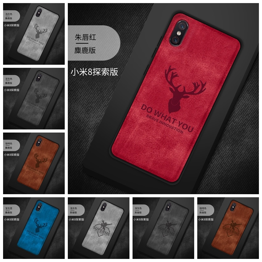 For Xiaomi Mi 8 Explorer Cover Silicon TPU Fabric Phone Case For Xiaomi Mi 8 Mi8 SE Cover Funda For Xiaomi Mi 8 Explorer Case