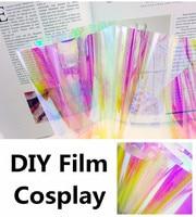 1.37x5m Rainbow Effect Iridescent Window Film Decorative Glass Sticker Chameleon Color Christmas Party DIY Cosplay Decoration