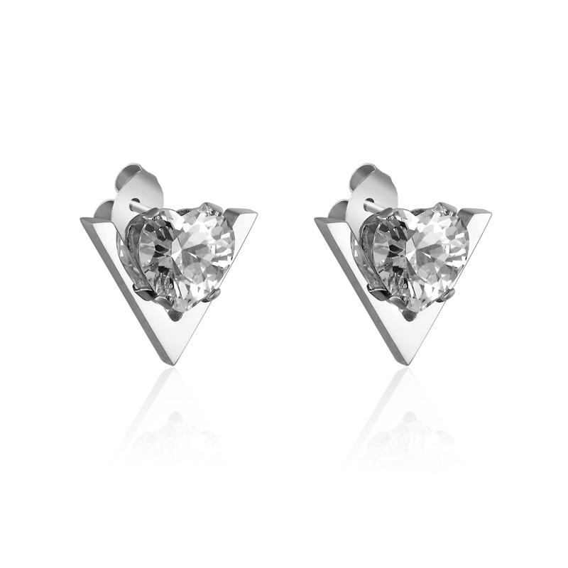 Vanzare fierbinte moda drăguț formă V și inima Crystal Femeie - Bijuterii de moda - Fotografie 2