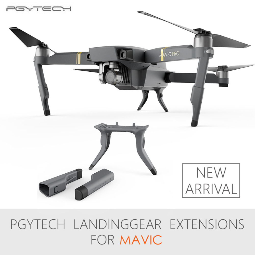PGYTECH DJI Mavic Pro Landing gear Extended Leg Landing Gear Support Leg protector Drone Accessories for DJI Mavic pro/platinum dynamic analysis of landing gear