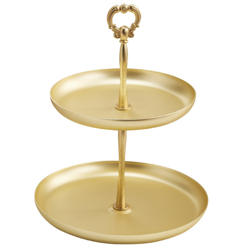 Double-Layer Tray Jewelry Decorative Receipt Box Dressing Table Necklace Ring Earrings Tray