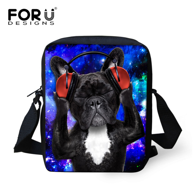 c2a3e0d978c girls messenger bag cute music cat pug dog printed bolso spanish bags women crossbody  bags for