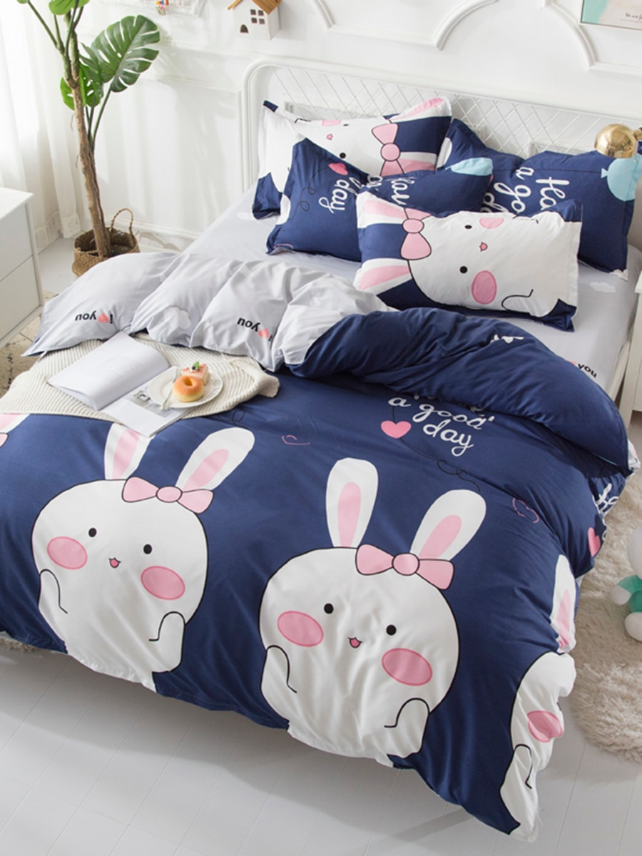 3/4 Pcs Bedclothes Set Modern Style Simple Lovely Pattern Duvet Cover Set 3/4 Pcs Bedclothes Set Modern Style Simple Lovely Pattern Duvet Cover Set
