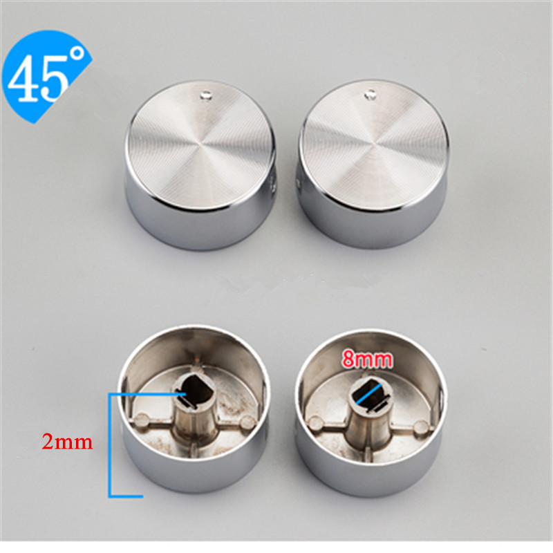 4pcs/set 8mm Rotary switch gas stove parts stove gas stove knob stainless steel round knob Knob for gas stove цена