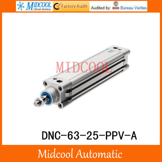 DNC-63-25-PPV-A Pneumatic Cylinder DNC series Standard Cylinder Double Acting FESTO Type high quality double acting pneumatic gripper mhy2 25d smc type 180 degree angular style air cylinder aluminium clamps