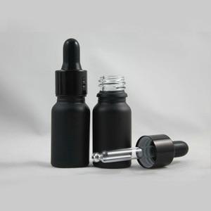 Image 1 - 200 teile/los 10ml Leere Schwarz Glas Ätherisches Öl Dropper Flasche 1/3 unzen Braun Glas Dropper Fläschchen Container verpackung