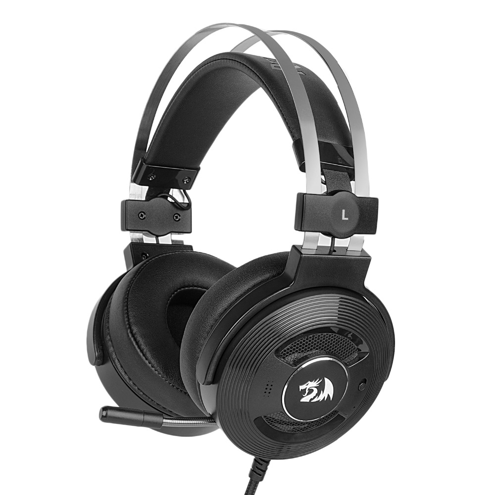 Redragon H991 TRITON Attivo Cancellazione del Rumore Gaming Headset 7.1 Canali Surround Stereo ANC cuffie Over Ear con Mircophone