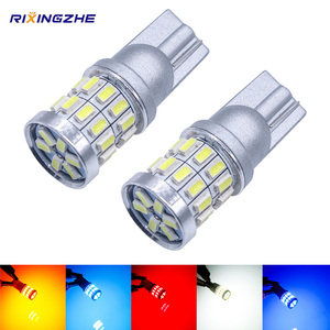 RXZ 1PCS w5w led T10 LED Bulbs Canbus 18SMD 3014 For Car Parking Position Lights,Interior Map Dome Lights 12V White Amer bright
