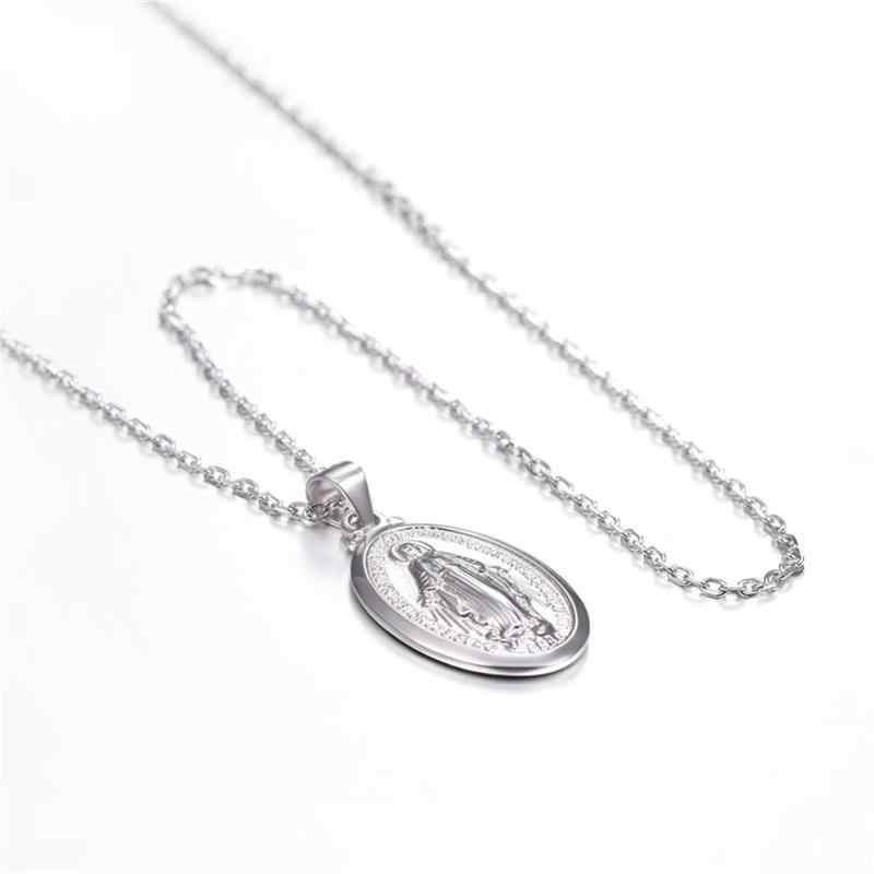 2019 новейшее серебро 925 пробы Крест йесу ожерелья чистый 925 серебро христианский кулон ожерелья для женщин мужчин Бог ожерелья