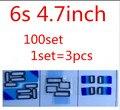 100 conjunto 3 pçs/set para iphone 6 s 4.7 motherboard fpc escudo dissipação de calor etiqueta apenas o adesivo