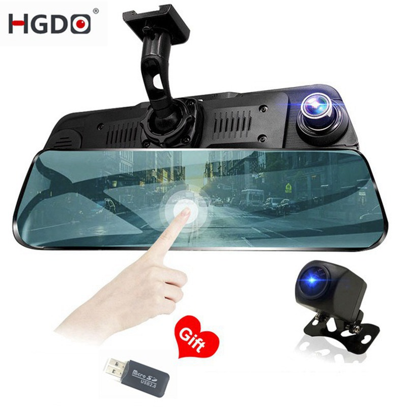 HGDO Car DVR Dash-Cam Touch-Screen Auto-Recorder 10inch Video-Registrar Night-Vision