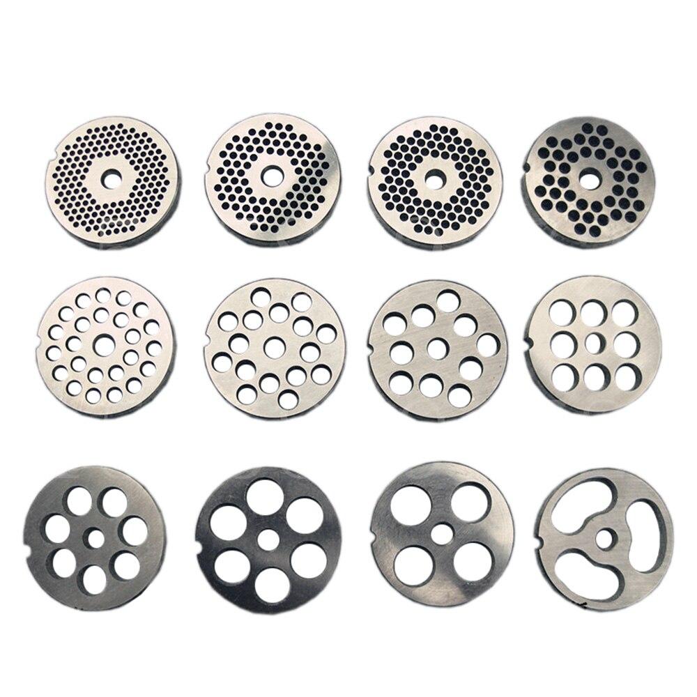 #12 Type remplaçable hachoir à viande plaque trou 3-18mm manganèse acier hachoir disque pour mélangeur alimentaire hachoir