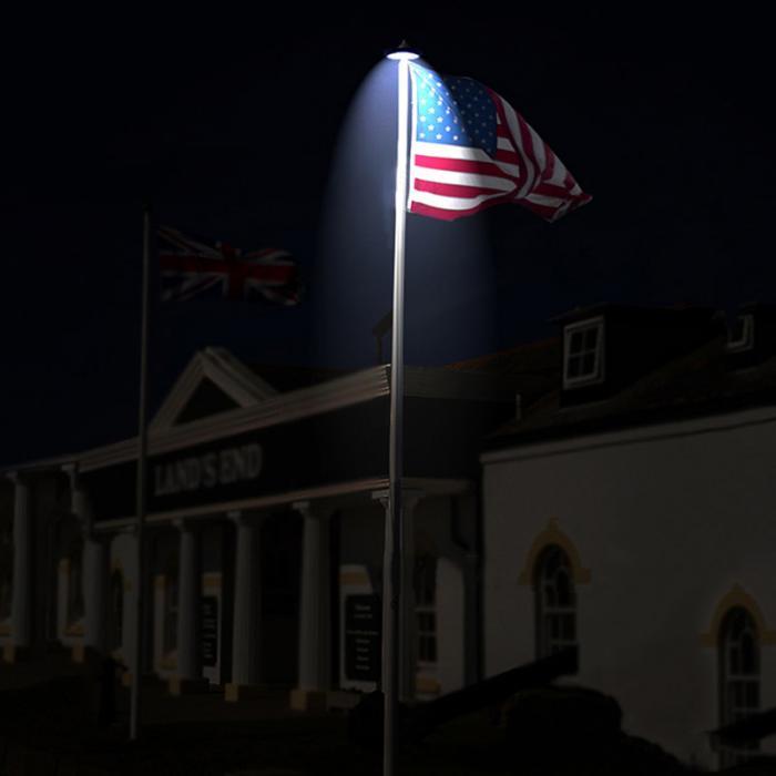 26 Leds Solar Flag Pole Lights