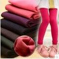 Frete grátis!! 2017 meninas leggings inverno além de veludo meias-calças leggings quente meninas de inverno calças quentes para roupa da menina das crianças