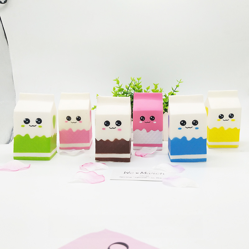 Kawaii Squishies Milk Box Bag/bottle/can Squeeze Fun Soft Slow Rising Stress Reliever Jumbo Food Cute Antistress Squeeze Toy
