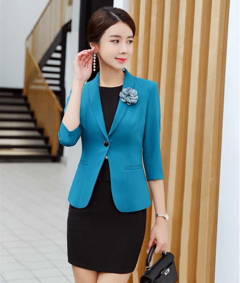 2019 новый стиль, официальный с короткими рукавами, деловые костюмы для женщин, Женская Офисная Рабочая одежда, весенне-осенняя униформа, стильные деловые комплекты OL