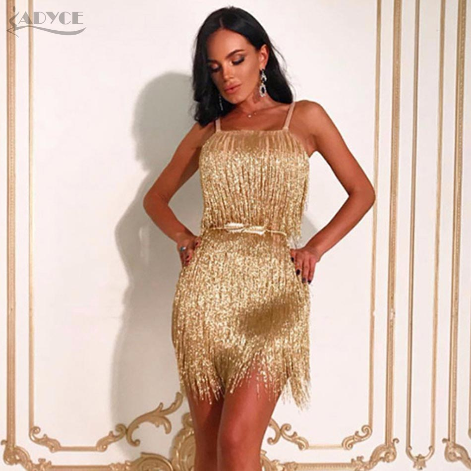 Seamyla 2018 New Fringe Dress Women Tassel Bodycon Bandage Dresses ...