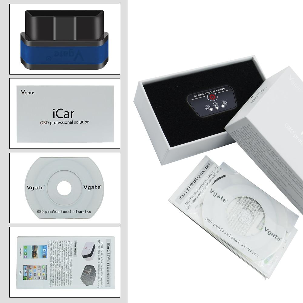 HTB10RvobwmH3KVjSZKzq6z2OXXaV Vgate iCar 2 ELM327 Wifi/Bluetooth OBD2 Diagnostic Tool for IOS iPhone/Android Icar2 Bluetooth wifi ELM 327 OBDII Code Reader