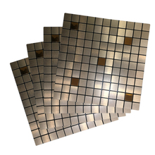 12 Indoor Bronze Puzzle Peel and Stick Tile Metal Backsplash for Kitchen Stove 3D wall stickers home decor living room 4 Packs