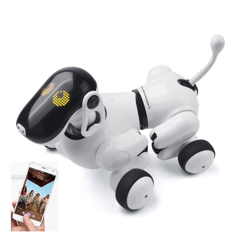 L'intelligence artificielle Robot Chien Chiot Aller APP Contrôle RC Robot Chien Jouet De Danse Musique Capteur Tactile Interactif AI Smart Robot chien