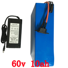 60V Battery Pack 10Ah 800w e bike Battery 60v Scooter Battery with 67.2v 2A Charger,15A BMS Lithium Battery 60v Free Shipping