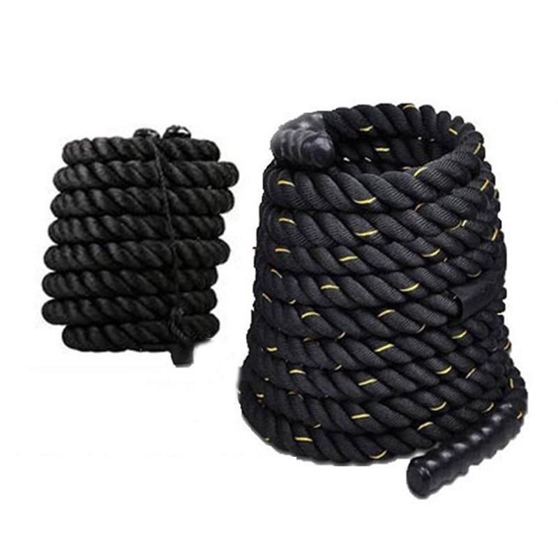 12 M/15 M Dacron Matériel Lourd Noir Or Aux Prises Corde Force Du Corps Physique Formation Sport Exercice Fitness Workout corde HWC