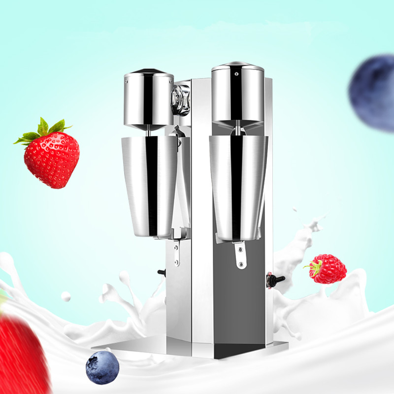 Double head milk shake machine commercial milkshaker blender  220v   ZF edtid new high quality small commercial ice machine household ice machine tea milk shop