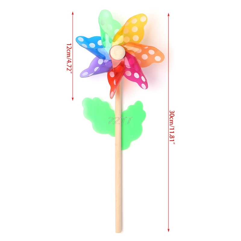 Windmill Children Kids Home Garden Decoration 7 Leaves Colorful Outdoors Spinner MAY14 dropshipping 1
