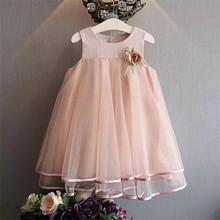 Baby Girl Summer Dress Infants Floral Casual Lace Princess Clothes Summer Sleeveless Kids Beautiful Clothes Ball Gown Dresses baby girls summer dresses casual cotton kids bow lace ball gown princess dress children clothes