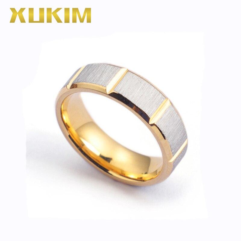 fb049bebfdb9 TSR236 Xukim joyería oro Acero inoxidable anillos hombres fasion plata  titanio anillos para Mujeres ...