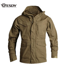 ESDYMen's Jacket US Army Climbing Tactical Clothing UK M65 Fall Winter Flight Pilot hooded Coat Field Outdoor Hiking Windbreaker autumn m65 jungle hooded jacket outdoor hiking hunting detachable liner windbreaker army tactical windproof waterproof coat