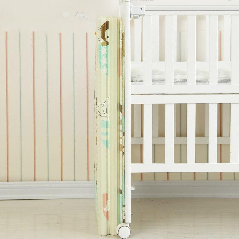 Bébé brillant 1.5 CM épais bébé tapis tapis de jeu pliable enfant tapis de jeu 200*180 CM grand enfant ramper tapis Puzzle couverture jeu Pad - 4