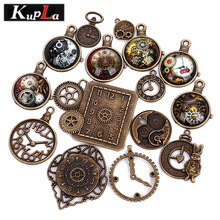 15pcs/lot Clock Vintage Pendant