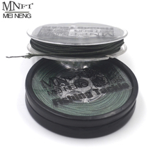MNFT 3 Spools/lot 25lbs 35lbs 45lbs Lead Core Carp Fishing Line Chod Rig& hair Rig Braided woven coated Leader/ leadcore Line