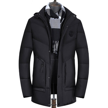 2019 Brand Mens Parka Warm Thick Long Coat Men Causal Hooded Men Winter Clothes Cotton-padded Jacket Chaquetas Hombre Invierno