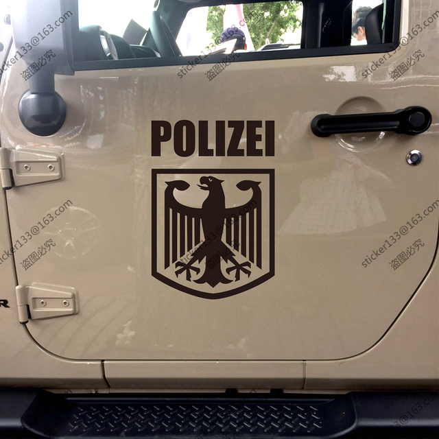 polizei deutschland deutsch polizei adler reichsadler deutschland auto lkw aufkleber. Black Bedroom Furniture Sets. Home Design Ideas