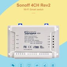 Интеллектуальный переключатель Wi-Fi модуль 4 канала пульт дистанционного управления переключатель для светильник лампа ПК