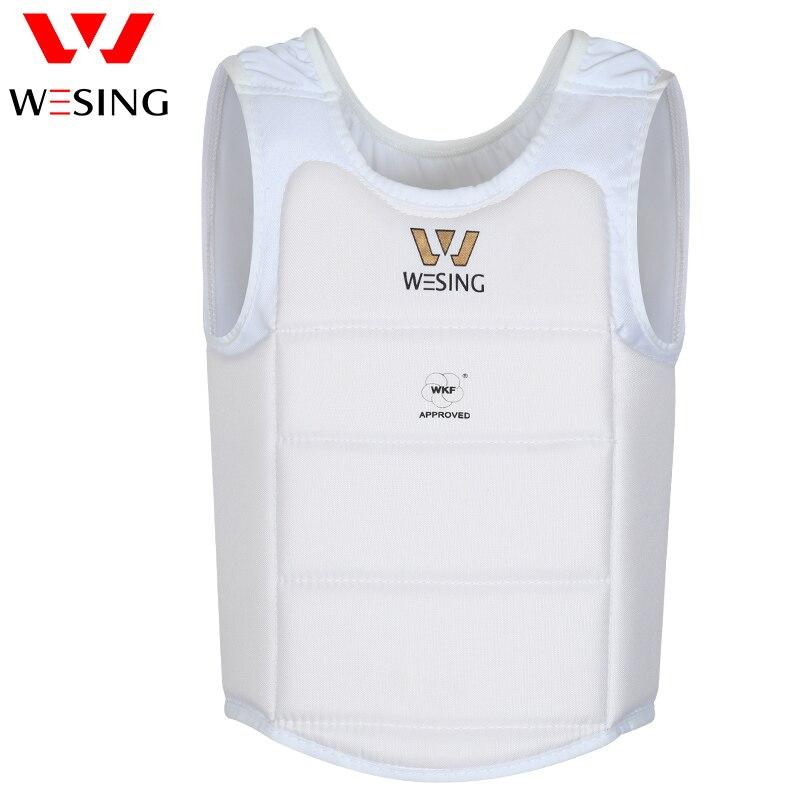 karate brystvakt karate kropp skjold spark boksing brystbeskytter godkjent av WKF