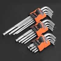 9 stücke Universal Hex Schlüssel Wrench Set Doppel Ende Allen Schlüssel 1,5mm-10mm Chrom Vanadium Stahl Hexagon spanner Set Hand Werkzeuge