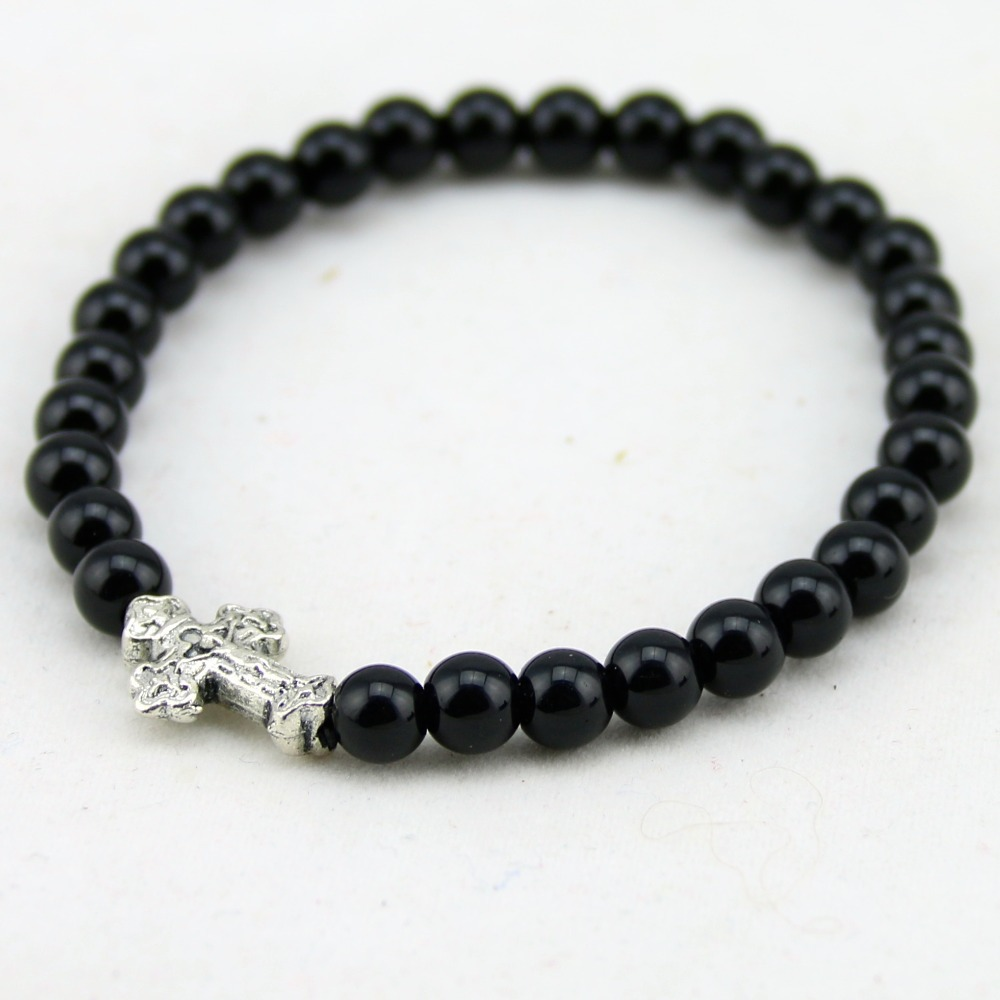 tibetan silver cross bracelets catholic jesus bracelet
