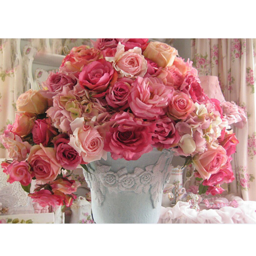 Online Shop Beautiful 5d Diamond Embroidery Painting Roses Flower