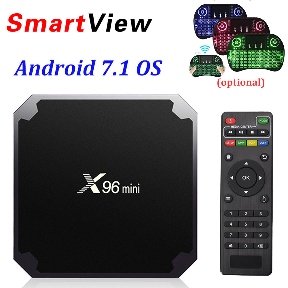 X96 mini Android 7.1 Smart TV BOX 2 gb/16 gb TVBOX X 96 mini Amlogic S905W H.265 4 k 2.4 ghz WiFi Media Player Set Top Box X96mini