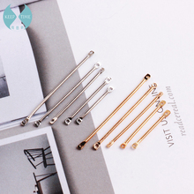 Double cylinder connecting rod  metal Earrings ear clip ear hook DIY Handmade ear jewelry materials and accessories