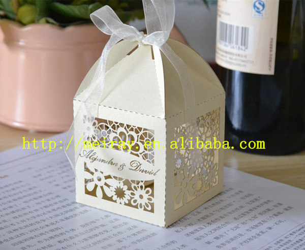 Floral paper laser cut wedding favor boxeswedding giveawayswedding floral paper laser cut wedding favor boxeswedding giveawayswedding favors and gifts boxes white in gift bags wrapping supplies from home garden on junglespirit Gallery